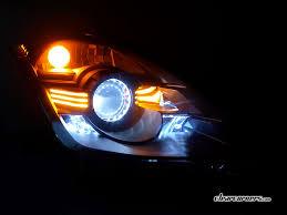 06 08 Nissan Z33 350z Fairlady Z Amber Super Led Headlights