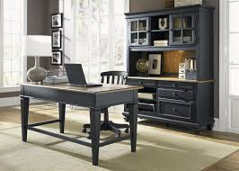 bungalow ii jr executive 3 piece home office set in driftwood black finish by liberty furniture
