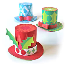festive paper hats for the holidays 3 cute diy mini paper tops hats free