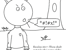 Ten Commandments Coloring Pages Free Printable Co Pri Dropnewsme
