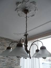 beautiful bronze nostalgic pendant light with 5 light sources 5 x murano glass lamp shades