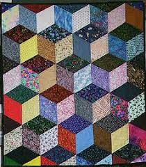 Pin by Amy Palmer on Quilt ideas | Pinterest & Free Easy Quilt Block Patterns | optical illusion--tumbling blocks Adamdwight.com