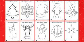 Basic Christmas Template Resource Pack Craft Christmas Eyfs Basic