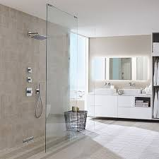 hansgrohe bathtub shower. floor-level shower with hansgrohe faucets. bathtub