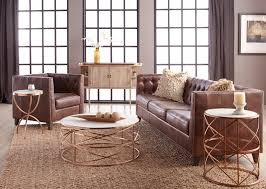 melrose coffee table rose gold setting 2