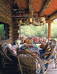 log cabin outdoor furniture patio. willow branch patio furniture on rustic log cabin porch i will have this one year my front outdoor a