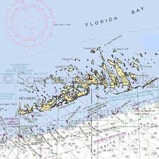 Florida Key West Lower Keys Nautical Chart Decor