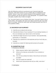 Business Plan Outline Template 24 Business Plan Outline Templates PDF Free Premium Templates 15