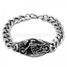 whole grim skull ride motorcycle biker bracelet snless steel jewelry motor biker skull mens bracelet