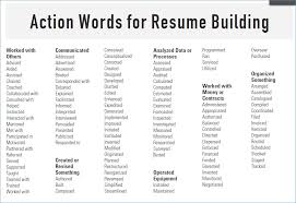 Good Resume Verbs Resume Layout Com