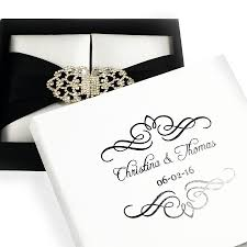 Wedding Name Perzonalized Brides And Grooms Name And Wedding Date Black White Wedding Mailing Box