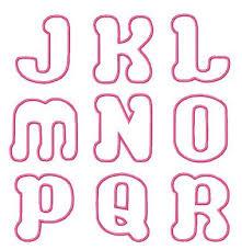 Bubble Letters Font Bubble Love Applique Font