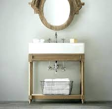 console sink with metal leg metal console sink weathered oak single restoration hardware for powder bath