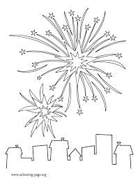 Small Picture New Year New Years fireworks coloring page