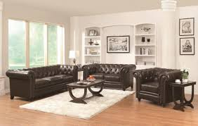 Leather Sofa Set For Living Room Coaster Roy 504551 Brown Leather Sofa Steal A Sofa Furniture