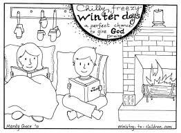 Looking for a no prep winter activity for kids? Winter Coloring Pages For Christian Kids Or Sunday School