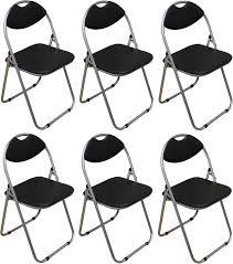 folding office chair. 6 X Harbour Housewares Black Padded, Folding, Desk, Guest Chairs Folding Office Chair T