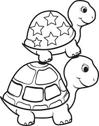 Small Picture free printable turtle on top of a turtle coloring page for kids