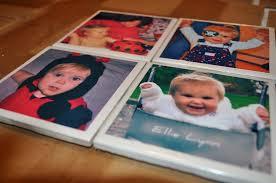 photo coasters diy