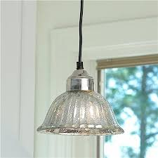 ribbed dome mercury glass shade pendant