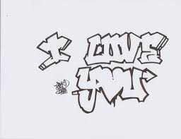 Deviantart More Like I Love You Graffiti By Daniherrero Part Of