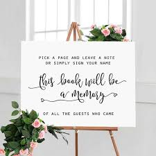 Wedding Guest Book Pick A Page And Leave A Note Wedding Guestbook Sign Guest Book Sign Wedding Signs Wedding Signage Please Sign Wedding Sign In