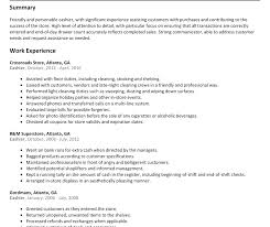 Resume Sample Cashier Best of Publix Resume Retail Cashier Template Objective Duties Summary