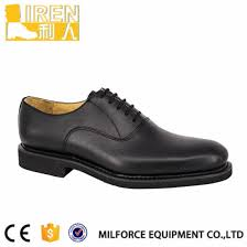 black patent pvc upper material slim round toe design 3 eyelet lace classic cap toe system a perfect addition to your officer security