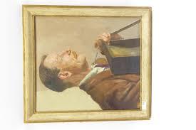 Hilda Freeman (British 20th century): The Pedlar, oil on canvas, signed,  52cm x 45cm - Antiques, Fine Art, Jewellery & Interiors