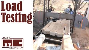 bandsaw mill plans. load testing the bandsaw mill plans