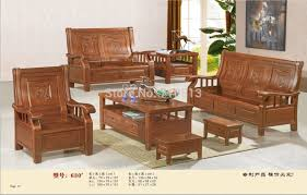 wooden sofa set good quality furniture for living room or office