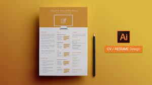 How To Create A Cv Resume Template In Illustrator Illustrator