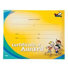 Awana Certificate Of Award T T Certificate Of Award Pkg Of 10 Awana Australia