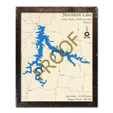 Stockton Lake Mo Wood Map 3d Nautical Wood Charts