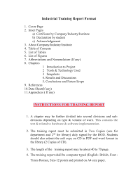 Training Report Cover Page Project Report Rimt