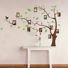 large art photo frames tree wall decor stickers green leaves on the tree branches home wall decals murals for living room bedroom photo frame wall decals
