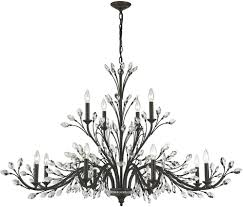 most recently released crystal branch chandelier with elk 11777 8 4 crystal branches burnt bronze chandelier