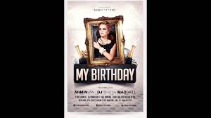 Party Flyer Creator Birthday Party Invitation Flyer Free Photoshop Template Youtube