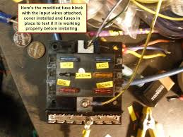 1965 coupe at 289 replace fuse panel w blade type fuse blocks circuit breaker fuse at Replacing A Fuse In A Fuse Box