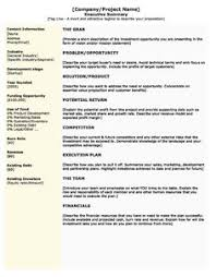 executive summary example business examples of an executive summary executive summary template for