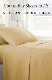 how to sheets to fit a pillow top mattress