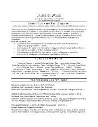 Qa Engineer Job Description Resume Templates Tester Format
