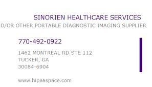 1588708119 NPI Number | SINORIEN HEALTHCARE SERVICES | TUCKER, GA | NPI  Registry | Medical Coding Library | www.HIPAASpace.com © 2021