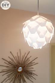 update old ceiling light with easy to make pendant light pendant light update old ceiling light