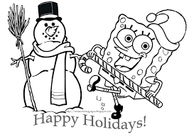 Spongebob And Patrick Christmas Coloring Pages With Book Spongebob