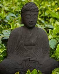 buddha garden statue. Lava Stone Garden Buddha Statue In Meditation Pose D