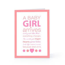 Swanky New Baby Girl Greeting Card New Baby Girl Greeting Card Ts