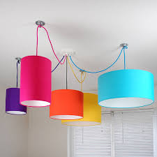 fantastic plain bright colored lampshade of colorful drum shade design by quirk for interesting bedroom pendant lighting ideas
