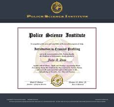 introduction to criminal profiling police science institute an error occurred