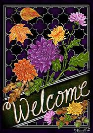 Custom Decor Inc Designables Amazing Amazon WELCOME MUMS Double Sided Vinyl Garden Sign